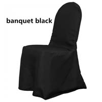 Black Economic Scuba Wrinkle Free Style Ballroom Banquet Chair Covers Ballroom and Banquet Chair Covers