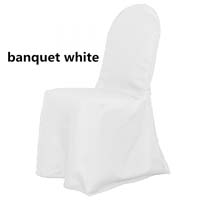 White Economic Scuba Wrinkle Free Style Ballroom Banquet Chair Covers Ballroom and Banquet Chair Covers