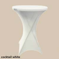 36 inch White Round High Cocktail Economic Spandex Table Cover Tablecloths