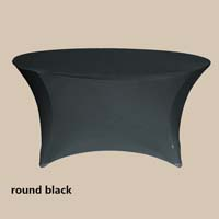 120 Round Black Economic Spandex Table Cover Tablecloths