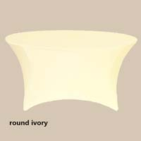 120 Round Ivory Economic Spandex Table Cover Tablecloths