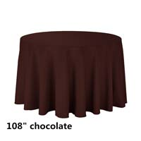 Chocolate 108 Round Economic Visa Polyester Style Tablecloths Tablecloths