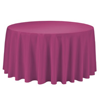 Fuchsia 108 Round Economic Visa Polyester Style Tablecloths Tablecloths