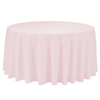 Pink 108 Round Economic Visa Polyester Style Tablecloths Tablecloths