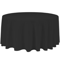 Black 132 Round Economic Visa Polyester Style Tablecloths Tablecloths