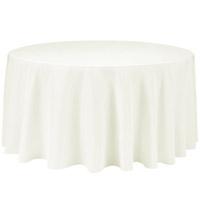 Ivory 132 Round Economic Visa Polyester Style Tablecloths Tablecloths