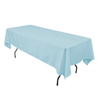 Baby Blue  60X108 Economic Visa Polyester Style Tablecloths Tablecloths