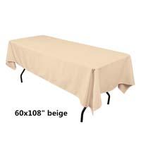 Beige  60X108 Economic Visa Polyester Style Tablecloths Tablecloths