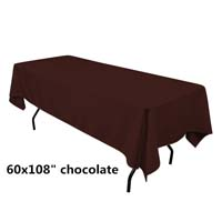Chocolate  60X108 Economic Visa Polyester Style Tablecloths Tablecloths