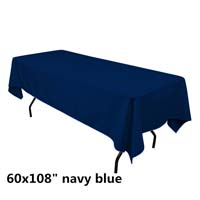 Navy Blue  60X108 Economic Visa Polyester Style Tablecloths Tablecloths