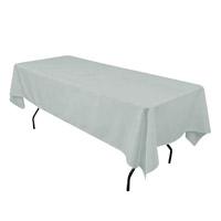 Silver 60X108 Economic Visa Polyester Style Tablecloths Tablecloths