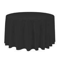 Black 90 Round Economic Visa Polyester Style Tablecloths Tablecloths