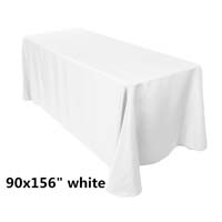 90x156 White Economic Visa Polyester Style Table Drapes Tablecloths
