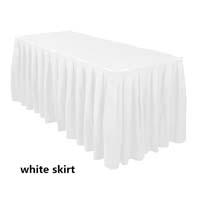 White Economic Visa Polyester Style Table Skirts Skirting