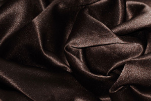Chocolate L'Amour Satin Tablecloths Tablecloths