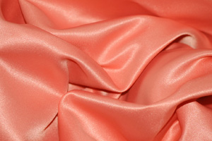 Coral L'Amour Satin Tablecloths Tablecloths