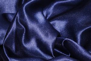 Navy Blue L'Amour Satin Table Overlays Overlays
