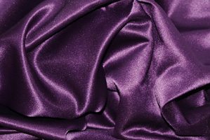 Plum L'Amour Satin Table Skirting Skirting