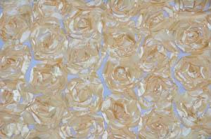 Champagne Rosette Satin Bordeaux Tablecloths Tablecloths