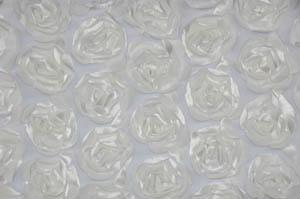Ivory Rosette Satin Bordeaux Tablecloths Tablecloths