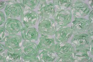 Mint Rosette Satin Bordeaux Tablecloths Tablecloths