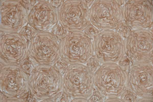 Champagne Rosette Satin Tablecloths Tablecloths