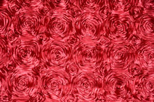 Cherry Rosette Satin Tablecloths Tablecloths