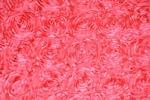 Dolce Pink Rosette Satin Tablecloths Tablecloths