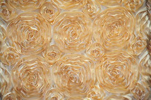 Gold Rosette Satin Tablecloths Tablecloths