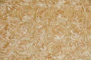Honey Rosette Satin Tablecloths Tablecloths