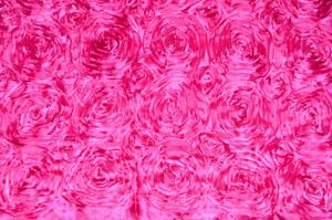 Hot Pink Rosette Satin Tablecloths Tablecloths