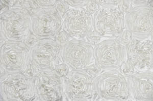 Ivory Rosette Satin Tablecloths Tablecloths