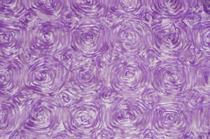 Lavender Rosette Satin Table Overlays Overlays