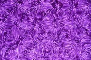 Light Purple Rosette Satin Tablecloths Tablecloths