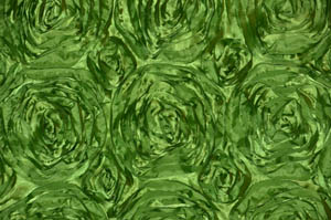 Lime Rosette Satin Tablecloths Tablecloths