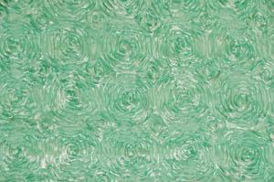 Mint Rosette Satin Tablecloths