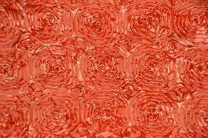 Orange Rosette Satin Tablecloths Tablecloths