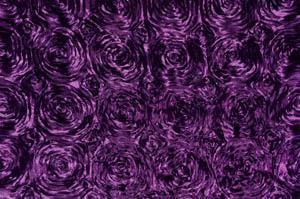 Plum Rosette Satin Tablecloths Tablecloths