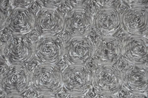 Silver Rosette Satin Tablecloths Tablecloths
