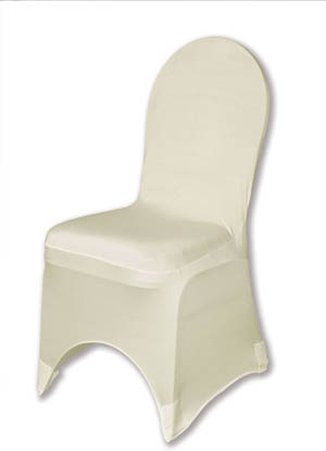 Ivory Spandex Chair Cover Ballroom Banquet Chair Covers Ballroom and Banquet Chair Covers
