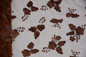 Brown Applique Organza Tablecloths Tablecloths