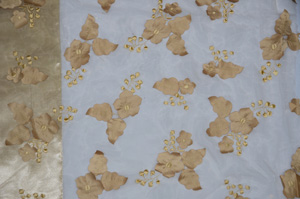Champagne Applique Organza Table Runners Table Runners