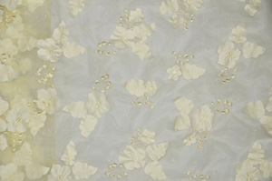 Ivory Applique Organza Table Runners Table Runners