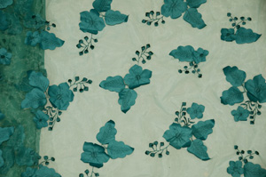Teal Applique Organza Table Overlays Overlays