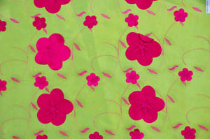 Lime Fuchsia Applique Taffeta Tablecloths Tablecloths