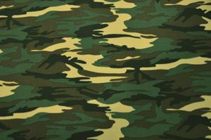Army Camouflage Neoprene Knit Yards Yards