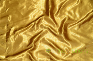 Dark Gold Charmeuse Satin Table Drapes Table Drapes
