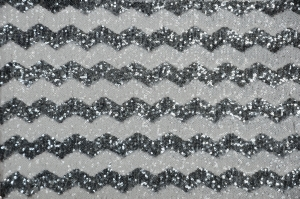 Grey Chevron Glitz Sequins Table Runners Table Runners