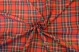 Christmas Red Plaid Fabric Yards