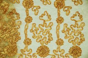 Gold Confetti Organza Table Drapes Table Drapes